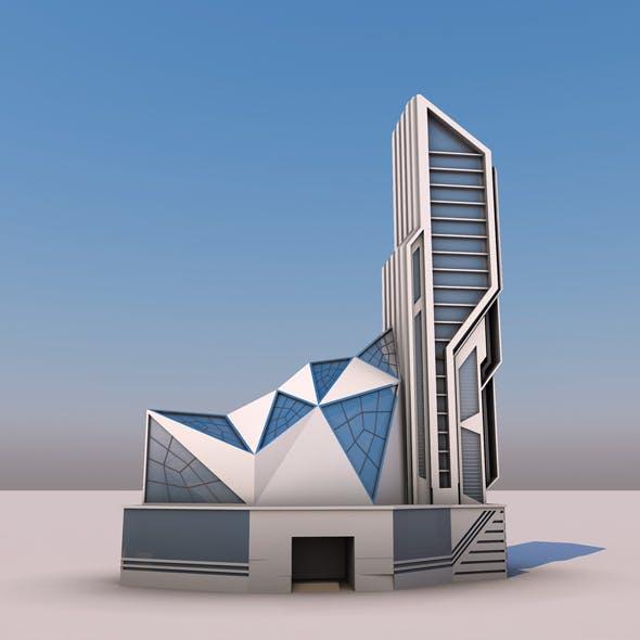 Futuristic Deconstruction Skyscraper