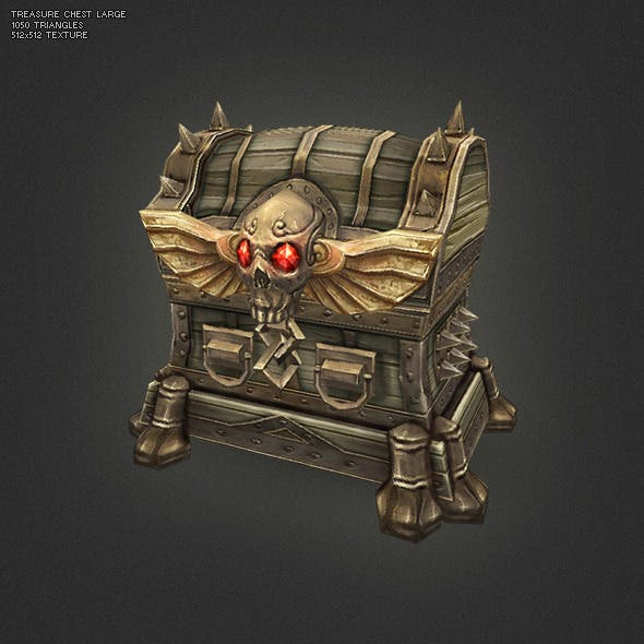 Low Poly Treasure Chest - Large