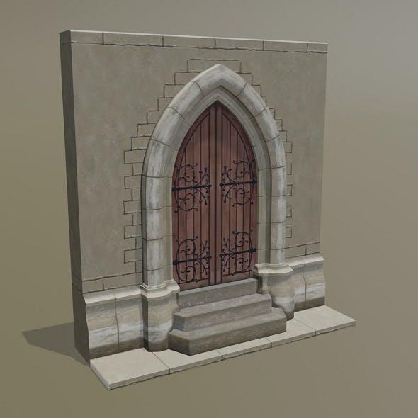 Medieval Door - 3DOcean Item for Sale