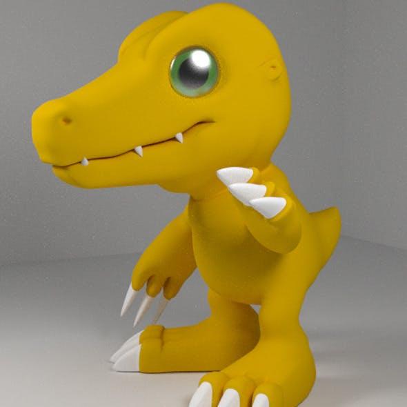 Agumon 3D Models - 3DOcean Item for Sale