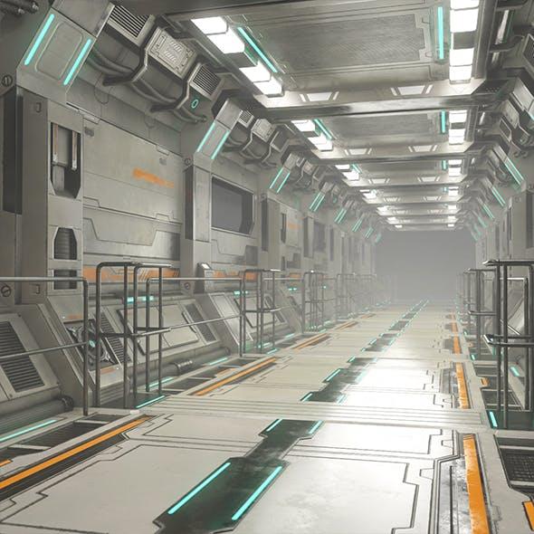 Sci-Fi Modular Corridor Version 2 - Low Poly
