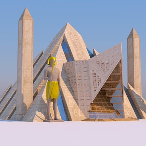 Modern Egyptian Pyramids for Architecture