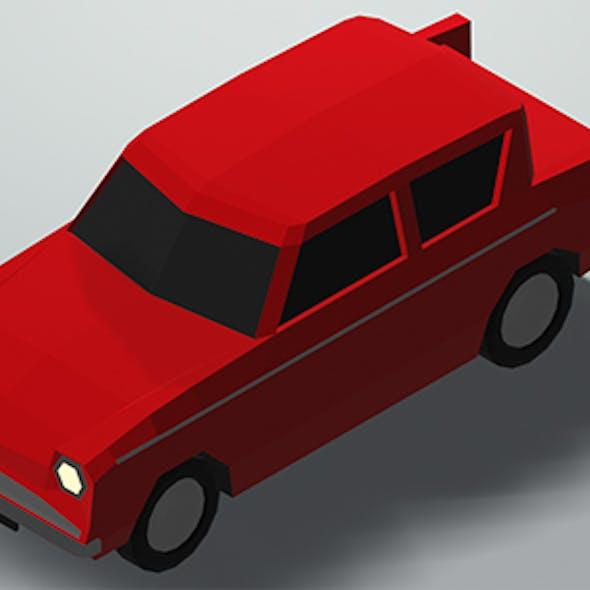 Low Poly Car w/Camera & Lighting Scene