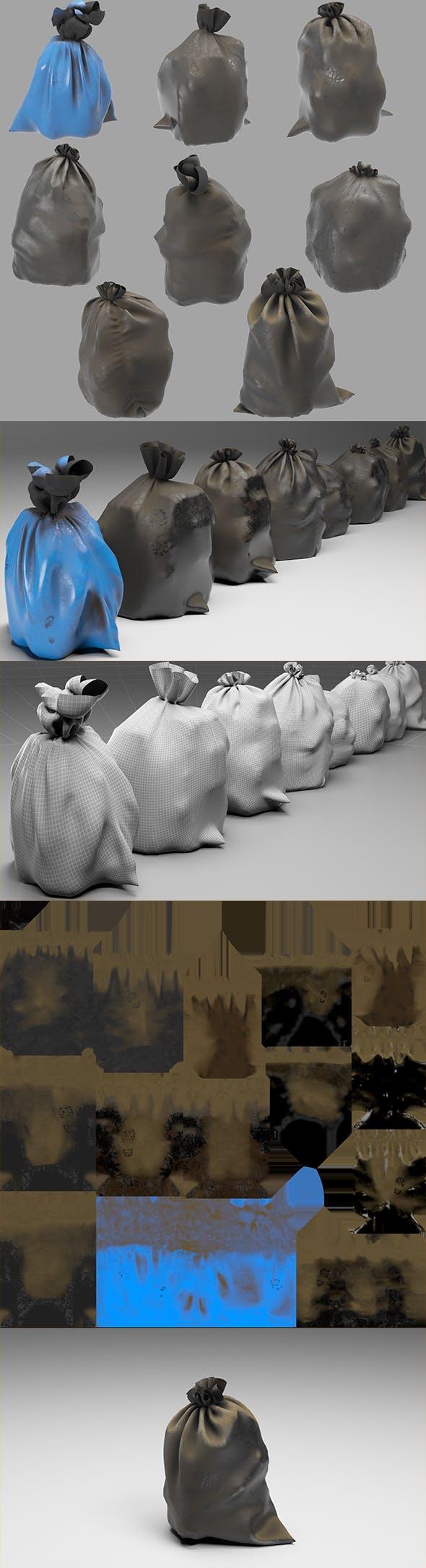 Garbage dusty bags - 3DOcean Item for Sale