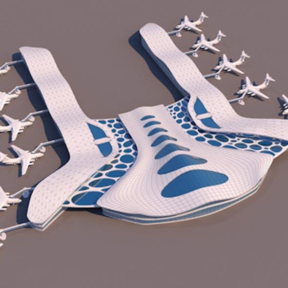Airport Organic Shape Form-01
