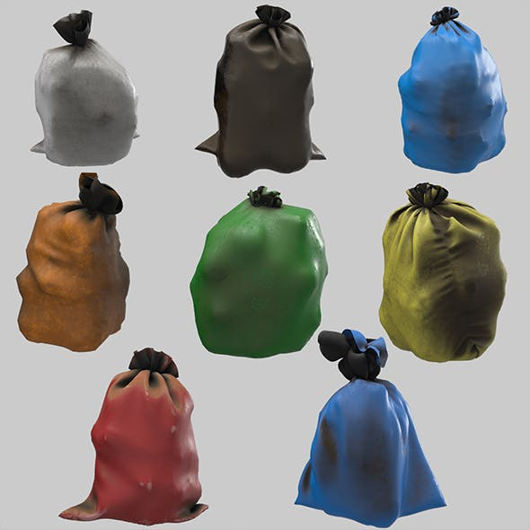 Garbage dusty bags multi color