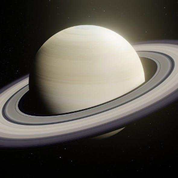 Photorealistic Saturn 8k Textures 3D Model