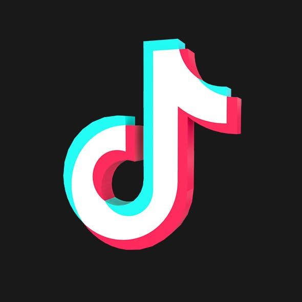 Tictok Icon 3D