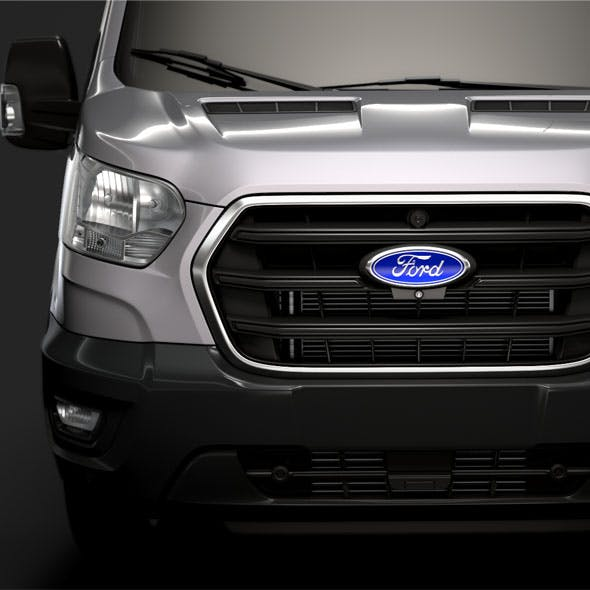 Ford Transit Van 350 L3H2 Trend 2020 - 3DOcean Item for Sale