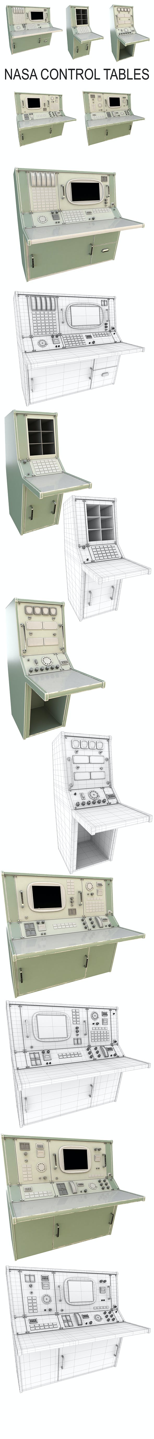 Nasa Control Tables (PBR) - 3DOcean Item for Sale