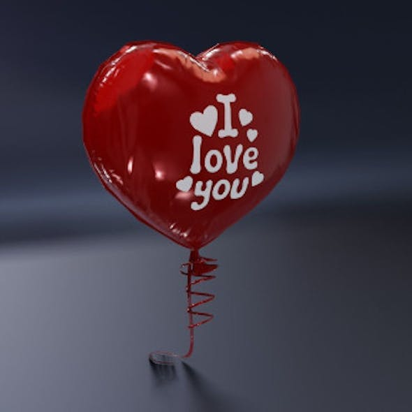 Balloon Heart Shaped 3D Model