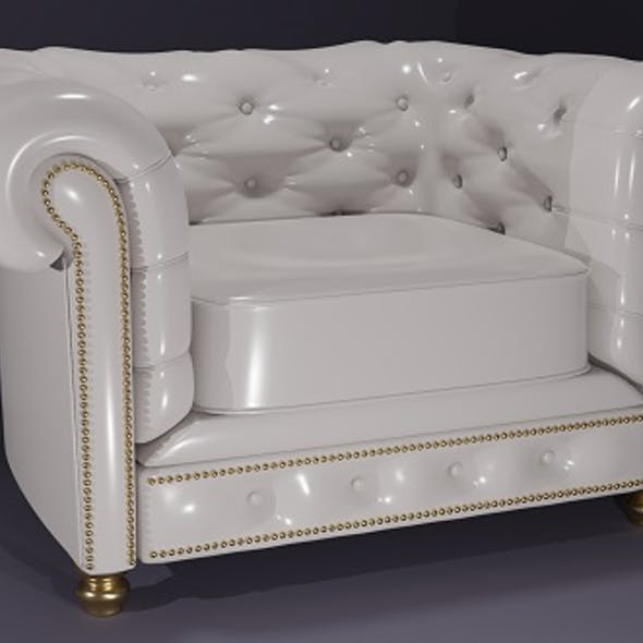Armchair Chesterfield white