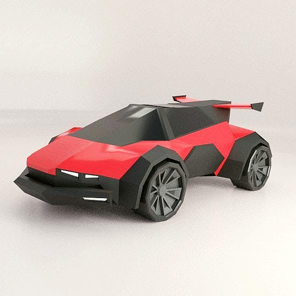 Lowpoly racing scifi vehicle