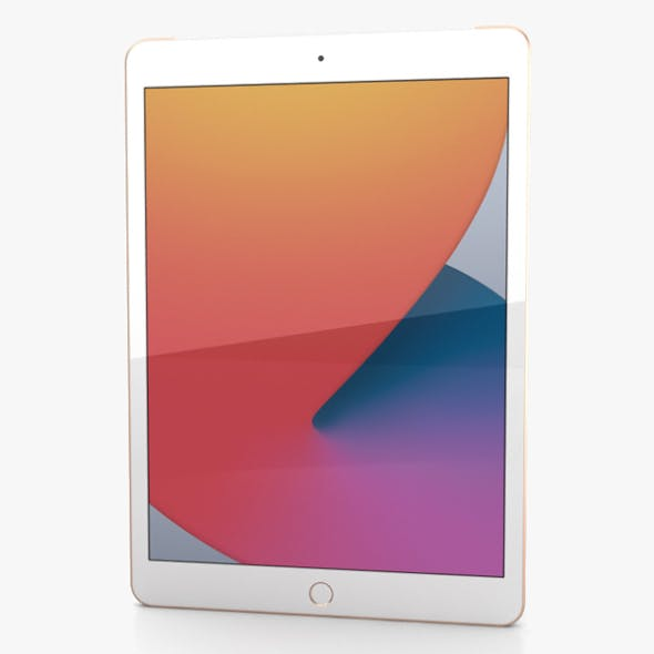 Apple iPad 10.2 2020 Cellular Gold - 3DOcean Item for Sale