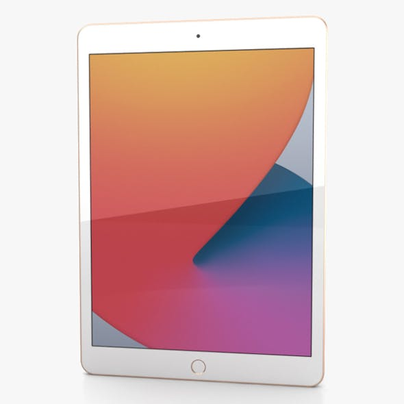 Apple iPad 10.2 2020 Gold - 3DOcean Item for Sale