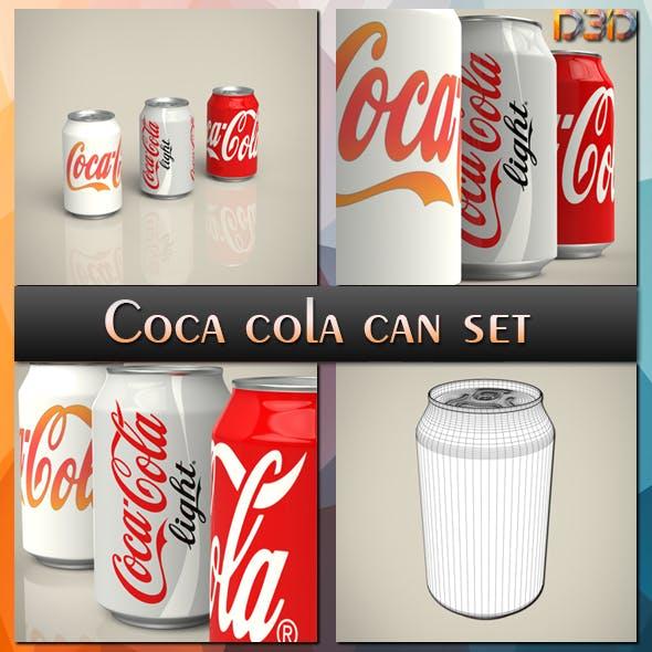 Coca cola can set - 3DOcean Item for Sale