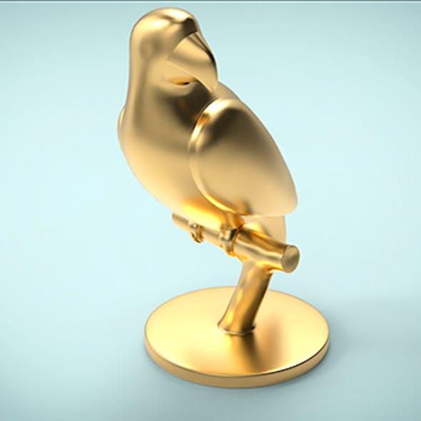 Parrot macaw decoration 3D print model Low-poly 3D model