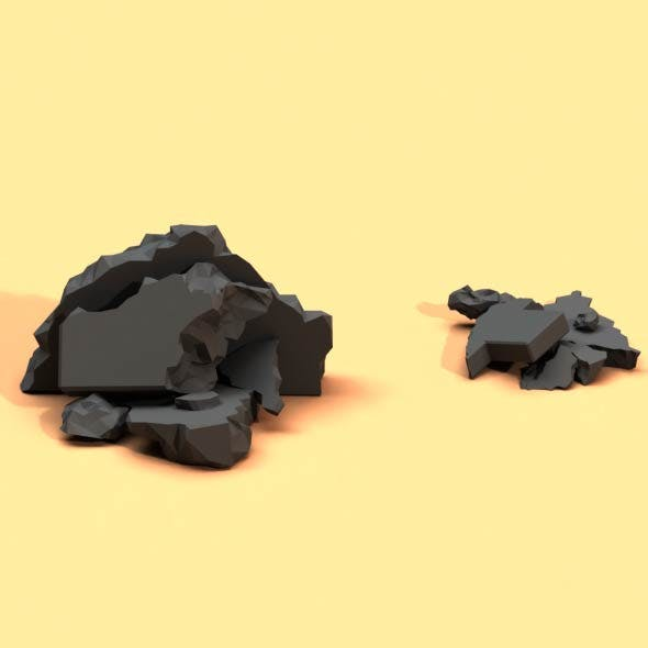 Low Poly Debris Piles - 3DOcean Item for Sale