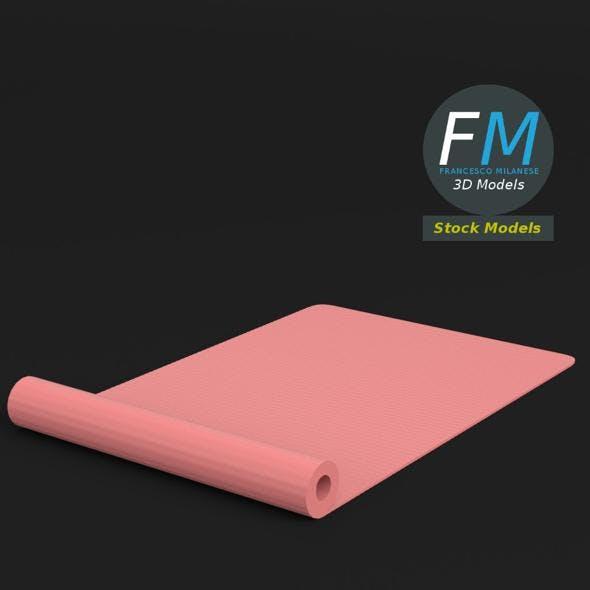 Half rolled yoga mat