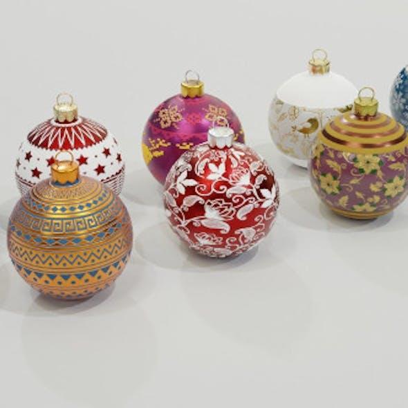 Christmas Baubles 3D Model