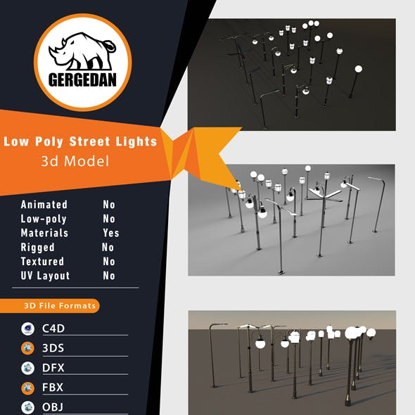 Low Poly Street Lights