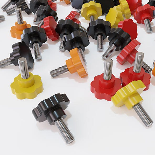 Clamping bolt. 3 colors.
