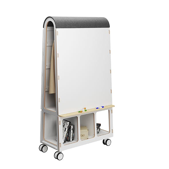 Arc of mobile office furniture by Task Systems - 3DOcean Item for Sale