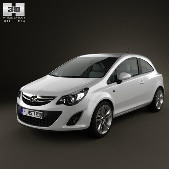 Opel Corsa 3door 2011 - 3DOcean Item for Sale