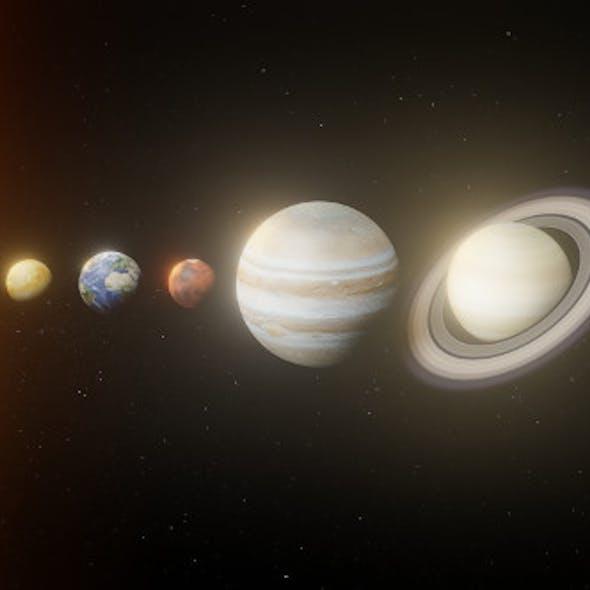 Photorealistic Solar System 8k Textures 3D Model
