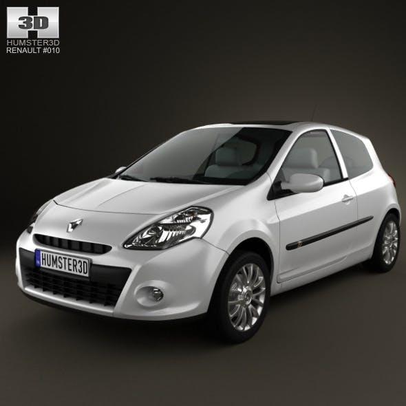 Renault Clio 3door 2010 - 3DOcean Item for Sale