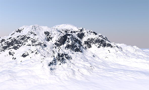 Snowy Mountain - Ready to Renders - 3DOcean Item for Sale