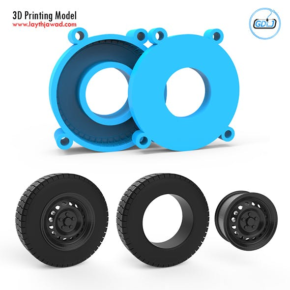 Tire Mold With Standard Wheels 3D Printing Model