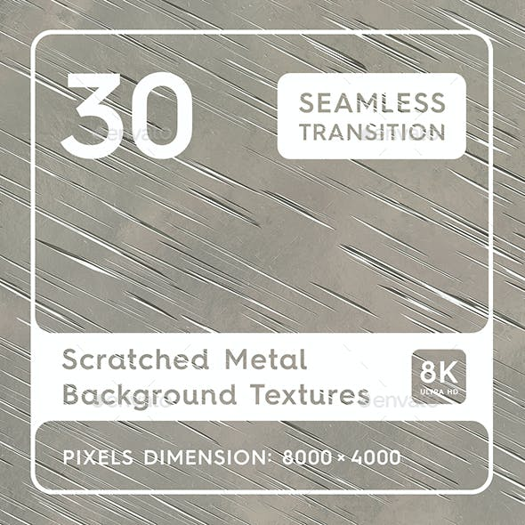 30 Scratched Metal Background Textures