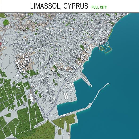 Limassol city Cyprus 3d model 40km
