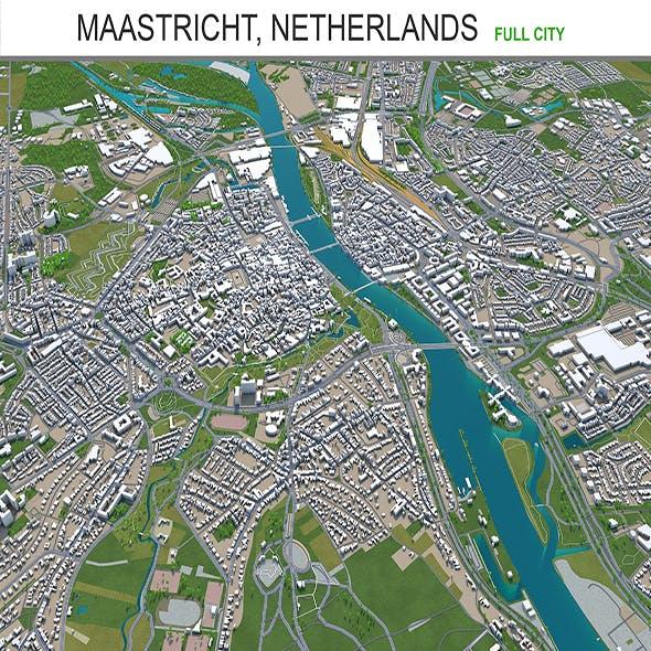 Maastricht city Netherlands 3d model 50km