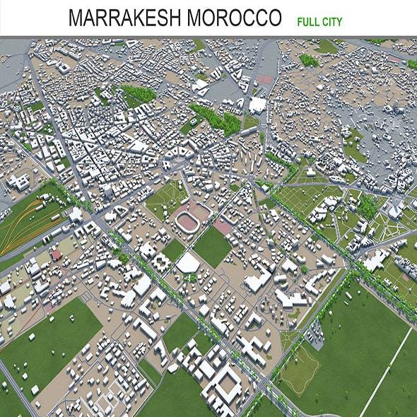 Marrakesh city Morocco 3d model 50km