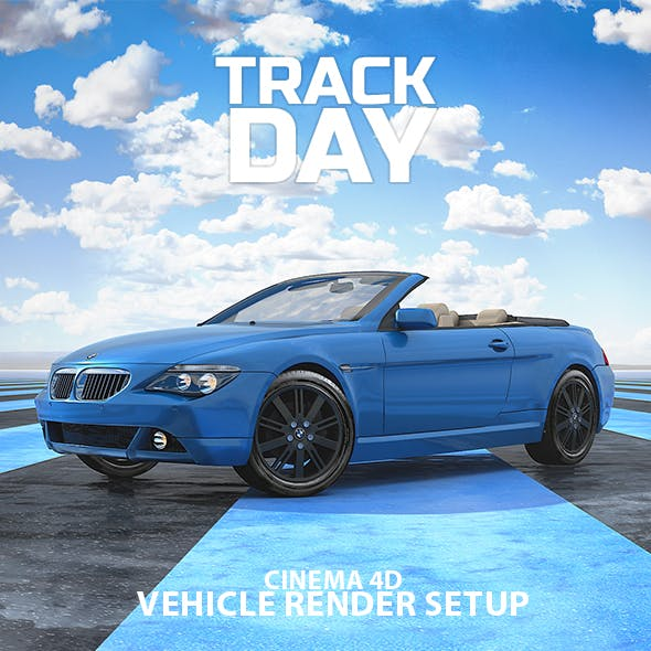 Track Day Car Render Setup for Cinema 4D