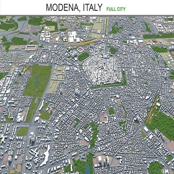 Modena city Italy 3d model 150km