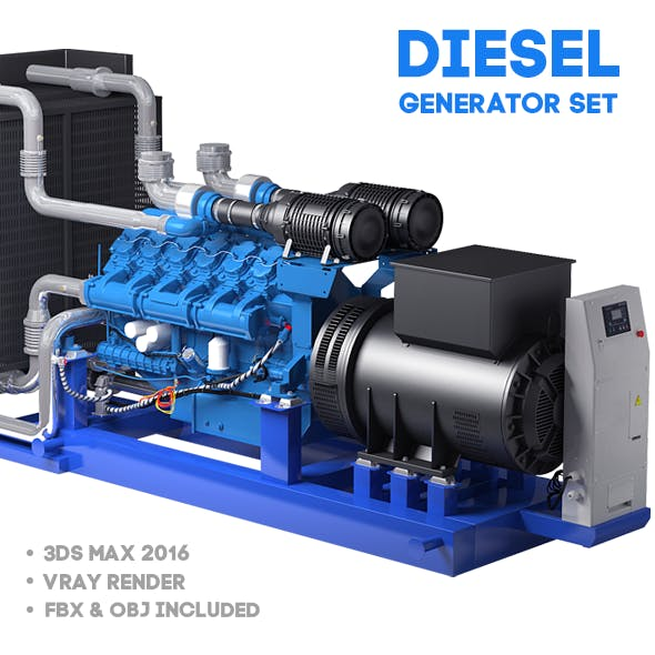 Diesel generator set. Twelve-cylinder engine.