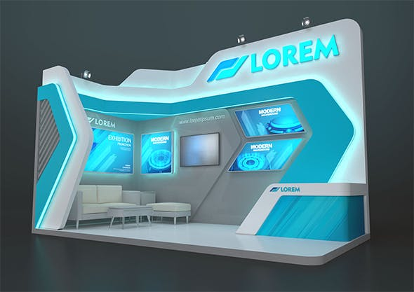 EXHIBITION STAND MZY 18 sqm - 3DOcean Item for Sale