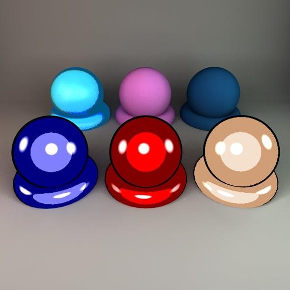 Cartoon Shaders (6 Pack) - 3DOcean Item for Sale