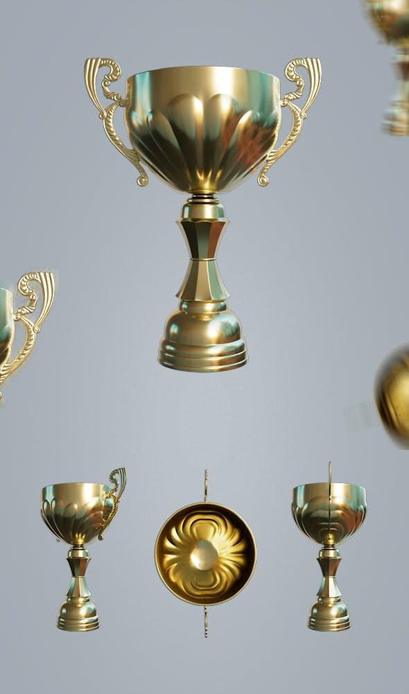 Super Cup 3D Model - 3DOcean Item for Sale
