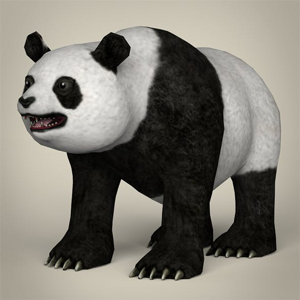 Low Poly Giant Panda - 3DOcean Item for Sale