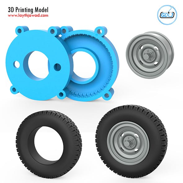 Vehicle Tire Mold 3D Printing Model - 3DOcean Item for Sale