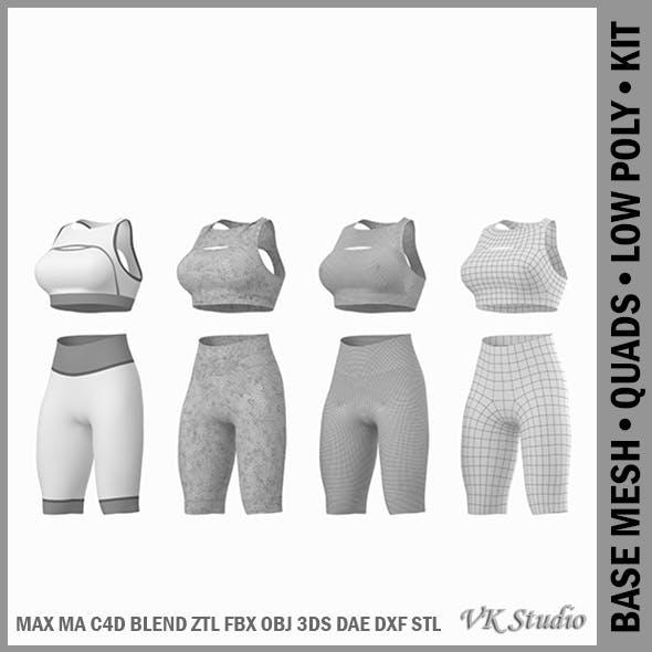 Woman Sportswear 01 Base Mesh Design Kit - 3DOcean Item for Sale