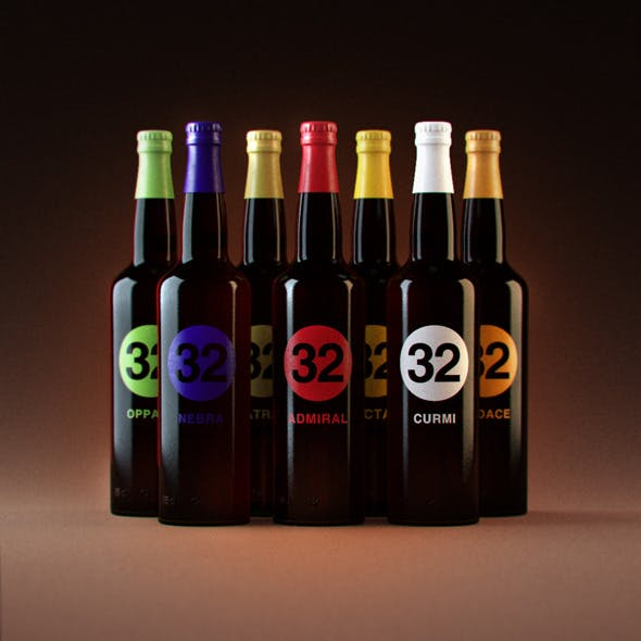 "Photorealistic ""32 Via dei Birrai"" Beers"