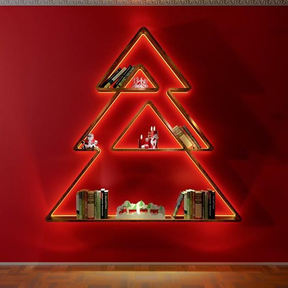 Christmas Tree BookShelvs Design