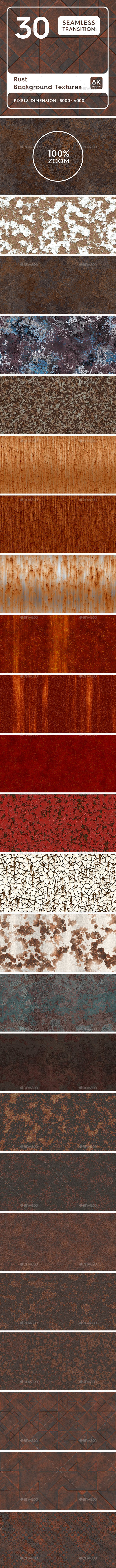 30 Rust Background Textures. Seamless Transition. - 3DOcean Item for Sale