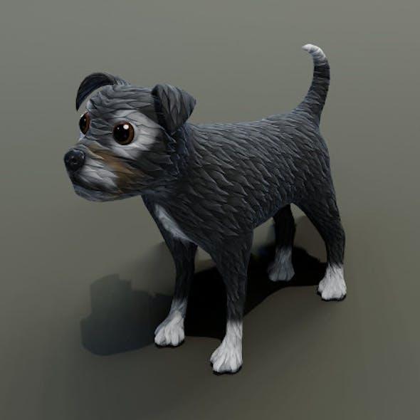 Cartoon Terrier Dog 3D Model
