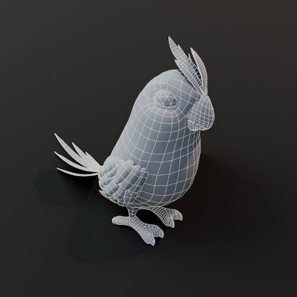 Cartoon Parrot Bird Base Mesh 3D Model